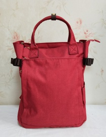 Fashion Red Portable Backpack