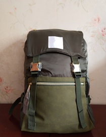Fashion Armygreen Waterproof Nylon Multi-function Backpack