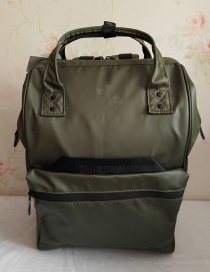 Fashion Armygreen Fully Waterproof Locomotive Backpack