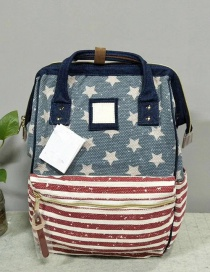 Fashion Star Stripe Anti-theft Backpack