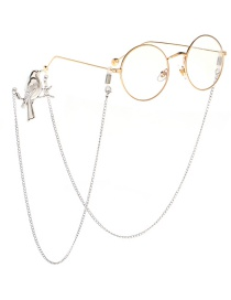 Fashion Silver Non-slip Branch Birdie Hanging Neck Glasses Chain