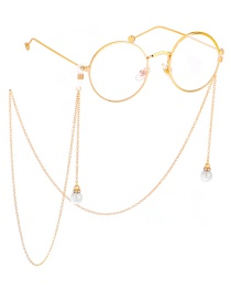 Fashion Gold Metal Pearl Diamond Chain
