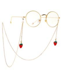 Fashion Gold Non-slip Metal Strawberry Glasses Chain
