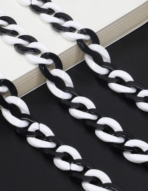 Fashion Black And White Acrylic Glasses Chain