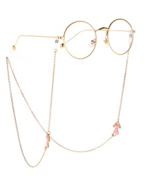 Fashion Gold Metal Cat Glasses Chain