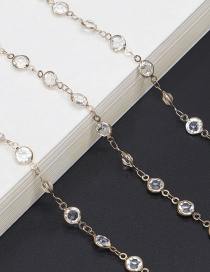 Fashion Gold With Transparent Transparent Glass Bead Chain