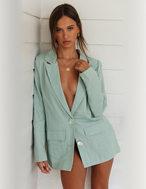 Fashion Green Two Buckle Small Suit