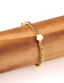 Fashion Small Flower Shell Pearl Braided Copper Bead Bracelet