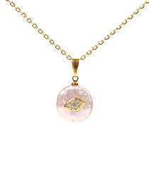Fashion Gold Pearl Palm Stainless Steel Necklace