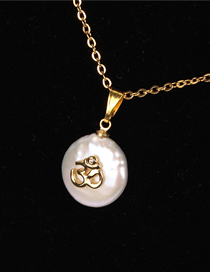 Fashion Gold Shaped Pearl Micro Inlay Necklace