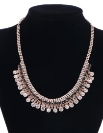 Fashion Photo Color Diamond Necklace