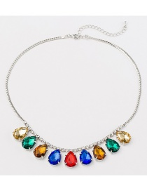 Fashion Photo Color Crystal Necklace