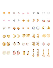 Fashion Gold Alloy Ear 30 Pairs Of Nails