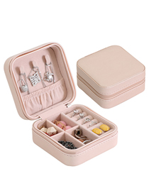 Fashion Single Layer Loose Powder Pu Single Layer Jewelry Box
