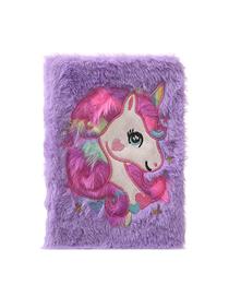 Fashion Violet Cartoon Unicorn Plush Notebook