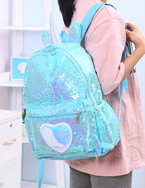 Fashion Light Blue Unicorn Sequin Shoulder Bag