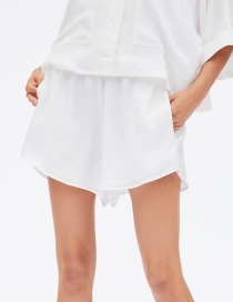 Fashion White Draw Shorts