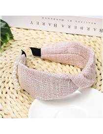 Fashion Pink Pearl Thousands Of Birds Wrap The Wide-brimmed Headband
