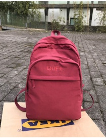 Fashion Red Large Embroidered Letter Backpack