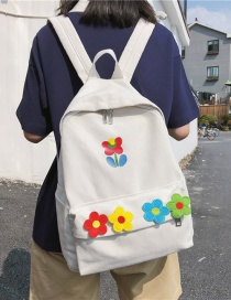 Fashion White Flower Backpack