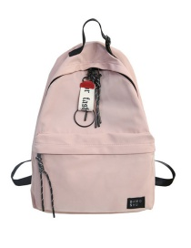 Fashion Pink Labeled Backpack