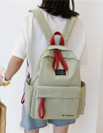 Fashion Light Green Contrast Embroidered Backpack