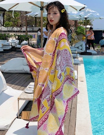 Fashion Color Lucky Elephant Print Tassel Scarf Shawl