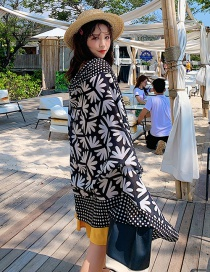 Fashion Black Little Petal Print Scarf Shawl