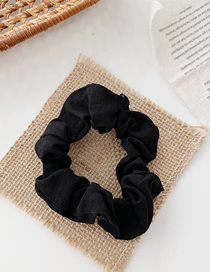 Fashion Black Solid Color Fabric Hair Rope