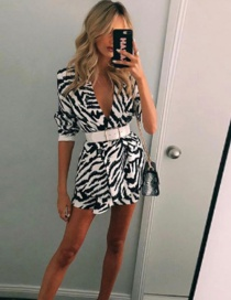 Fashion White Zebra Print Suit