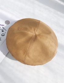 Fashion Four Pieces Of Spliced ??turmeric Light Board Stitching Wavy Beret