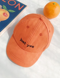 Fashion Just Orange Letter Printed Baby Baseball Cap