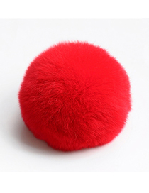 Fashion Red 8cm Rabbit Fur Ball Keychain