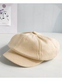 Fashion Brushed Cotton Octagonal Beige Berets
