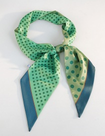 Fashion Wide Bevel Size Point Green Little Little Scarf