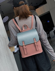 Fashion Pink Contrast Stitching Backpack