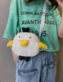 Fashion White Canvas Duckling Model Shoulder Crossbody Bag