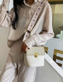 Fashion White Frosted Splicing Messenger Bag