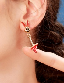 Fashion Bunny Earrings S925 Sterling Silver Bunny Mushroom Earrings