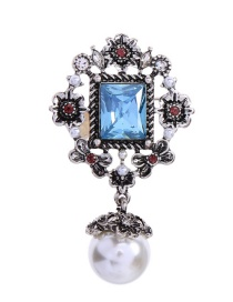 Fashion Burning Silver Diamond Brooch With Diamonds