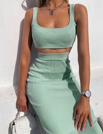 Fashion Green Two-piece Dress