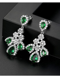 Fashion Green Water Droplet Earring