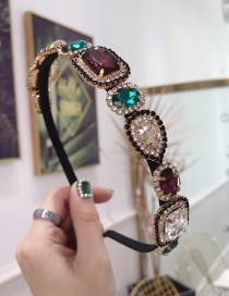 Fashion Color Cloth Hot Drilling Knotted Wide-brimmed Headband