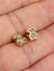 Fashion Gold Bear Cub Stud Earrings