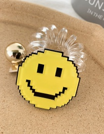 Fashion Smiley Fruit Transparent Telephone Line Hair Ring