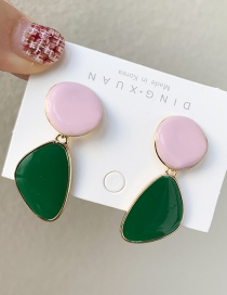 Fashion Green Geometric Drip Earrings