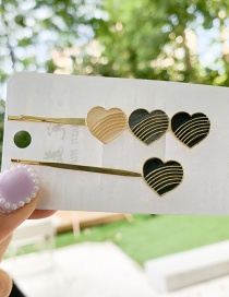 Fashion Black Love Hairpin