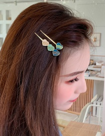 Fashion Green Love Hairpin