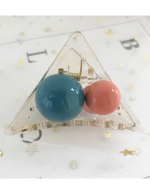 Fashion Blue And Pink Resin Ball Geometry Grab