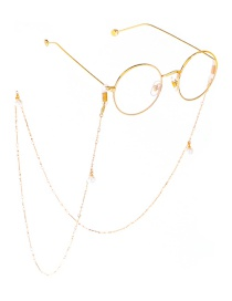 Fashion Gold Hanging Neck Pearl Long Glasses Chain